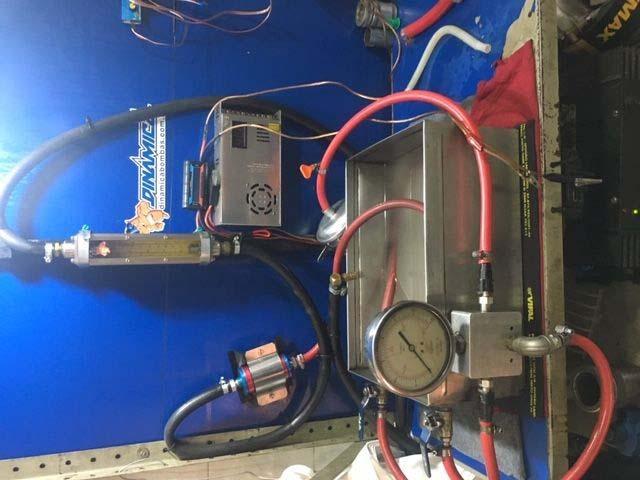 Teste de pressão de bomba de combustível
